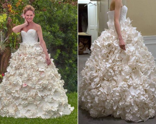свадебное платье из обычной бумаги