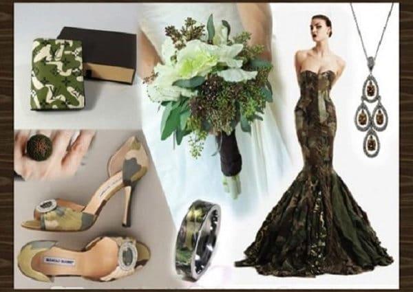 свадебное платье в цвете хаки
