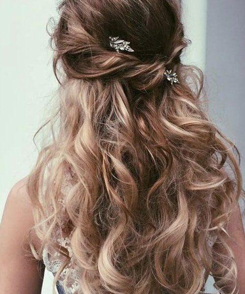 свадебные прически распущенные волосы