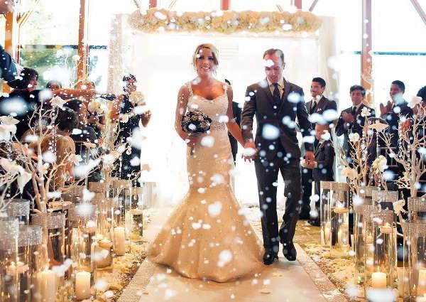 Оформление зимних свадеб