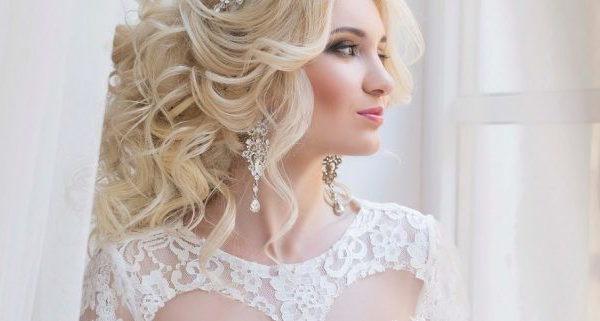 свадебные прически с фатой 2020